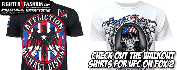 Check out the walkout shirts for tonight's UFC on FOX 2
