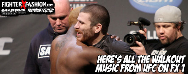 Here's all the walkout music from UFC on FX 1