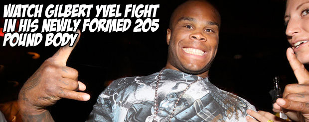 Watch Gilbert Yvel fight in his newly formed 205 pound body