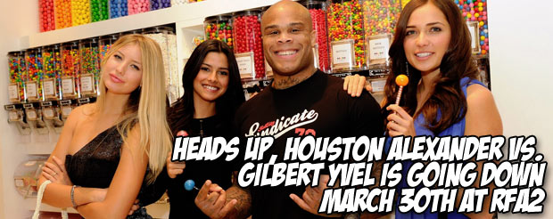 Heads up, Houston Alexander vs. Gilbert Yvel is going down March 30th at RFA2
