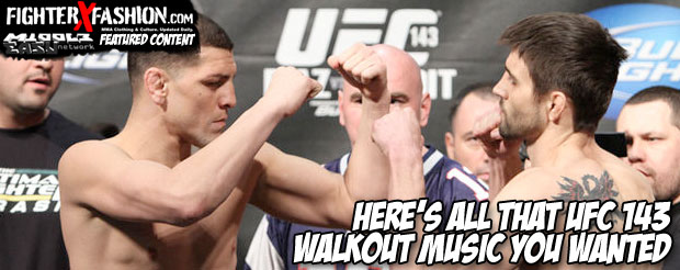 Here's all that UFC 143 walkout music you wanted