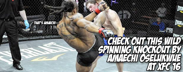 Check out this wild spinning knockout by Amaechi Oselukwue at XFC 16