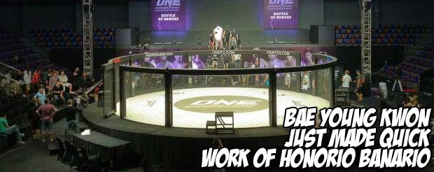 Bae Young Kwon just made quick work of Honorio Banario