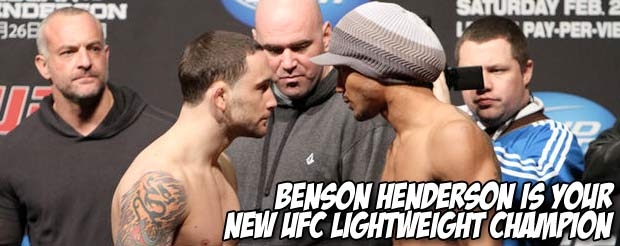 Benson Henderson is your NEW UFC lightweight champion