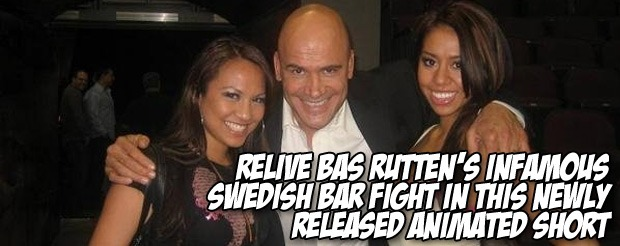 Relive Bas Rutten's infamous Swedish bar fight in this newly released animated short