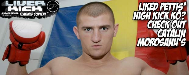 Liked Pettis' high kick KO? Check out Catalin Morosanu's