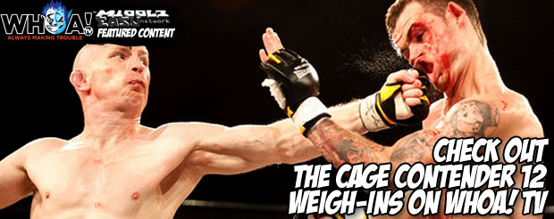 Check out the Cage Contender 12 weigh-ins on WHOA! TV