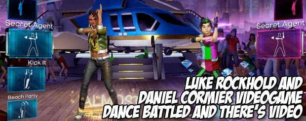 Luke Rockhold and Daniel Cormier videogame dance battled and there's video