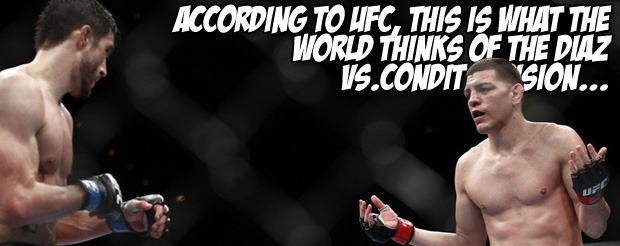 According to UFC, this is what the world thinks of the Diaz vs. Condit decision…