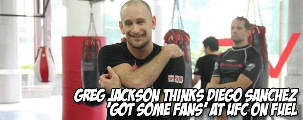 Greg Jackson thinks Diego Sanchez 'got some fans' at UFC on Fuel
