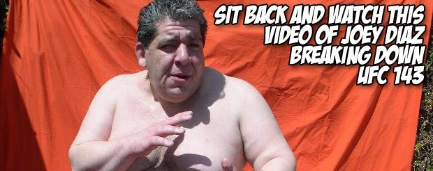 Sit back and watch this video of Joey Diaz breaking down UFC 143