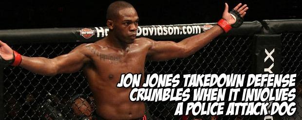 Jon Jones takedown defense crumbles when it involves a police attack dog