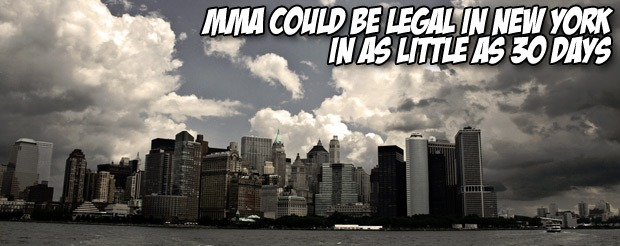 MMA could be legal in New York in as little as 30 days