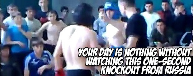 Your day is nothing without watching this ONE-second knockout from Russia