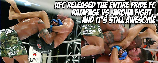 UFC released the entire Pride FC Rampage vs. Arona fight, and it's still awesome
