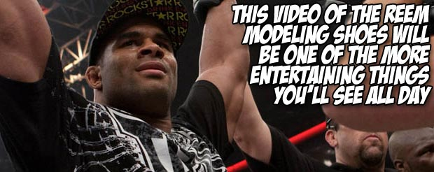 This video of The Reem modeling shoes will be one of the more entertaining things you'll see all day