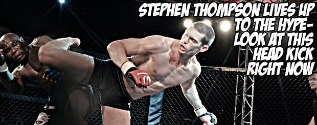 Stephen Thompson lives up to the hype-look at this head kick right now