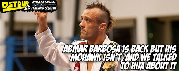 Abmar Barbosa is back but his mohawk isn't, and we talked to him about it