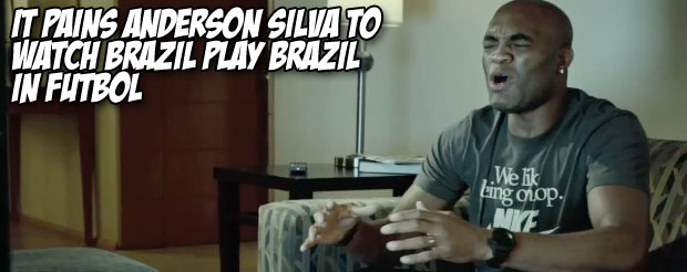 It pains Anderson Silva to watch Brazil play Brazil in Futbol