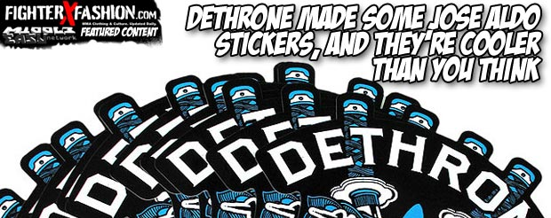 Dethrone made some Jose Aldo stickers, and they're cooler than you think