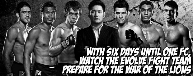 With six days until ONE FC, watch the Evolve Fight Team prepare for the War of the Lions