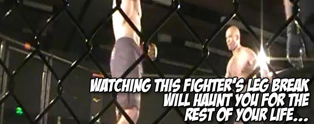 Watching this fighter's leg break will haunt you for the rest of your life…