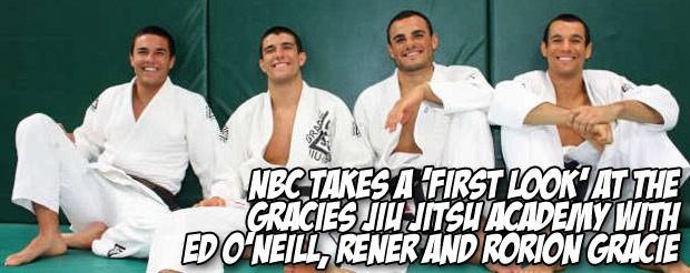 NBC takes a 'First Look' at the Gracies Jiu Jitsu Academy with Ed O'Neill, Rener and Rorion Gracie