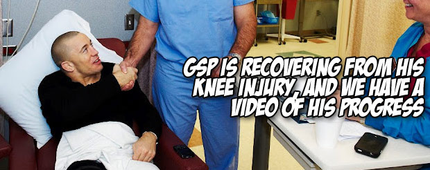GSP is recovering from his knee injury, and we have a video of his progress