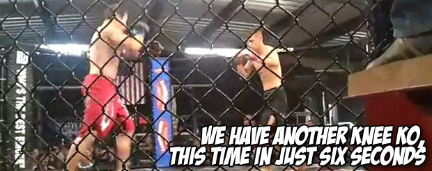 We have ANOTHER knee KO, this time in just six seconds