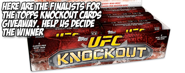 Here are the finalists for the Topps Knockout cards giveaway. Help us decide the winner