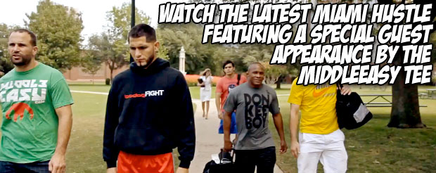 Watch the latest Miami Hustle featuring a special guest appearance by the MiddleEasy tee