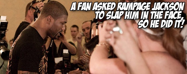 Rampage Jackson actually got his nickname from the old arcade game 'Rampage'