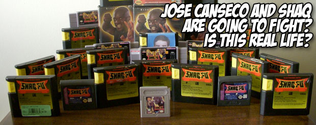 Jose Canseco and Shaq are going to fight? Is this real life?