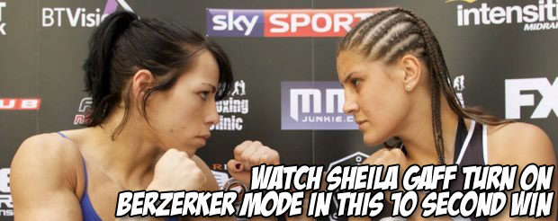 Watch Sheila Gaff turn on berzerker mode in this ten second KO win