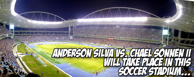 Anderson Silva vs. Chael Sonnen II will take place in this soccer stadium…