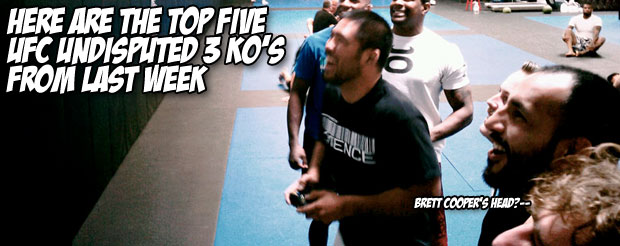 Here are the top five UFC Undisputed 3 KO's from last week
