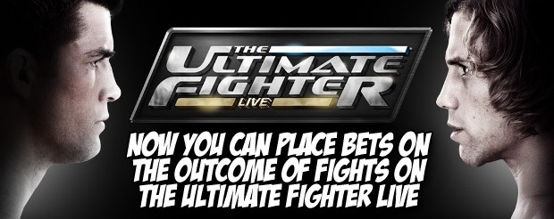 Now you can place bets on the outcome of fights on The Ultimate Fighter Live