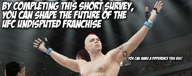 By completing this short survey, you can shape the future of the UFC Undisputed franchise