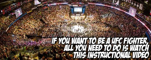 If you want to be a UFC fighter, all you need to do is watch this instructional video