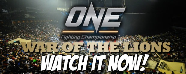 Watch ONE FC: War of the Lions for FREE on MiddleEasy for a chance to WIN one of many ONE FC shirts