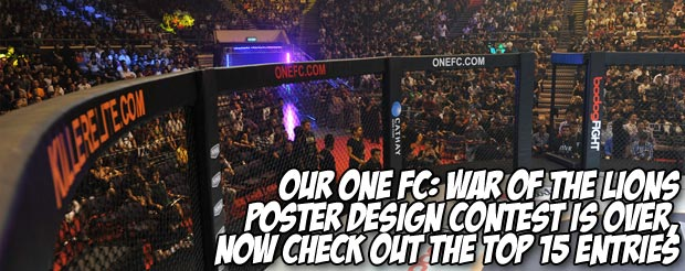 Our ONE FC: War of the Lions poster design contest is over, now check out the top 15 entries