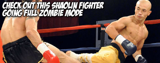 Check out this Shaolin fighter going full zombie mode