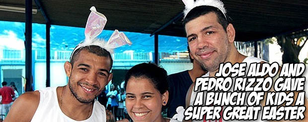 Jose Aldo and Pedro Rizzo gave a bunch of kids a super great Easter
