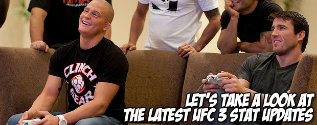 Let's take a look at the latest UFC 3 stat updates