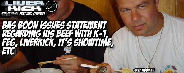 Bas Boon issues statement regarding his beef with K-1, FEG, LiverKick, It's Showtime, etc