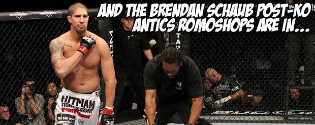 And the Brendan Schaub post-KO antics romoshops are in…