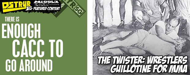 The Twister: Wrestlers guillotine for MMA