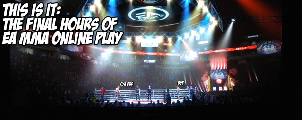 This is it: the final hours of EA MMA online play
