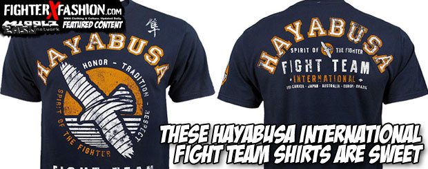 These Hayabusa International Fight Team shirts are sweet