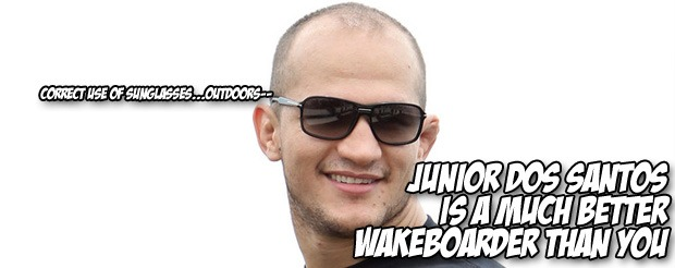 Junior Dos Santos is a much better wakeboarder than you